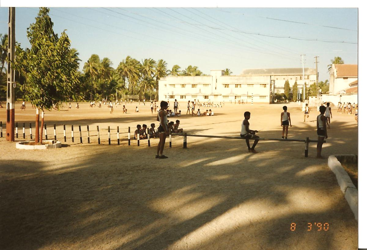 Sports ground for basketball, volleyball, dozball, kho-kho - March 1990