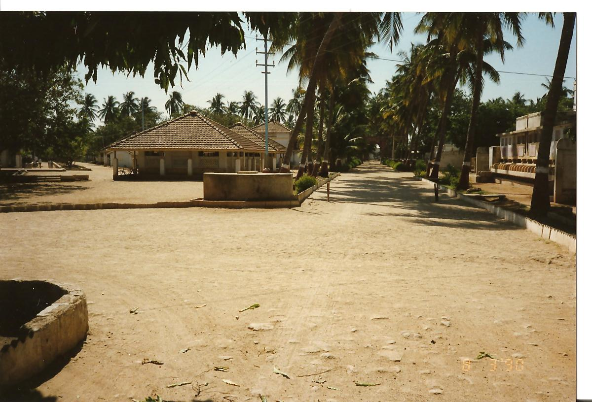 View of classrooms (what used to be class rooms 8 a & b.... from Bhojnalay end - March 1990