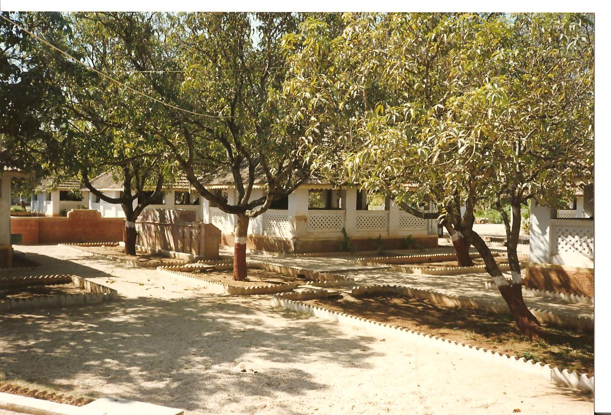 Classrooms surronded by Kesar Mango Trees and you can also see drinking water facility - March 1990